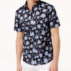 .Michael Kors Men's Slim-Fit Floral-Print Shirt -